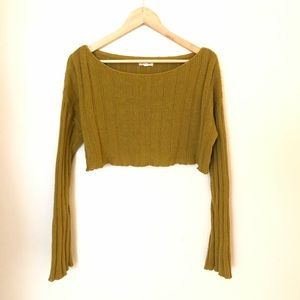 🍂Urban Outfitters Mustard Yellow crop sweater M